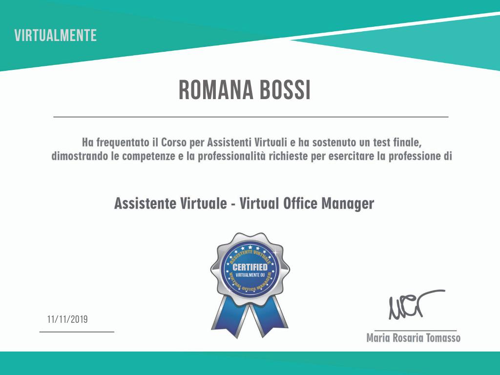 certificazione_Assistente Virtuale _ Virtual Office Manager
